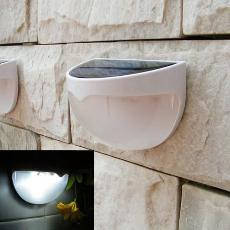 Jardim caminho lâmpada de parede luz solar 6 led sensor de luz solar led varanda luzes do painel à prova dwaterproof água ao ar livre cerca ferramentas