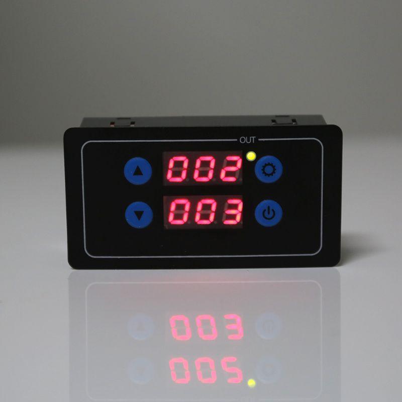 0,1 s-999 h таймер обратного отсчета Программируемый Модуль управления циклом реле времени двойной дисплей реле таймера 5 В/12 В/220 В