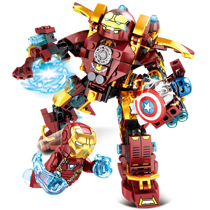 SY1340 Marvel Superhéroes vengadores Iron Man Smash Hulkbuster Juguetes de bloques de construcción para niños Boy regalo Hulkbuster MK46