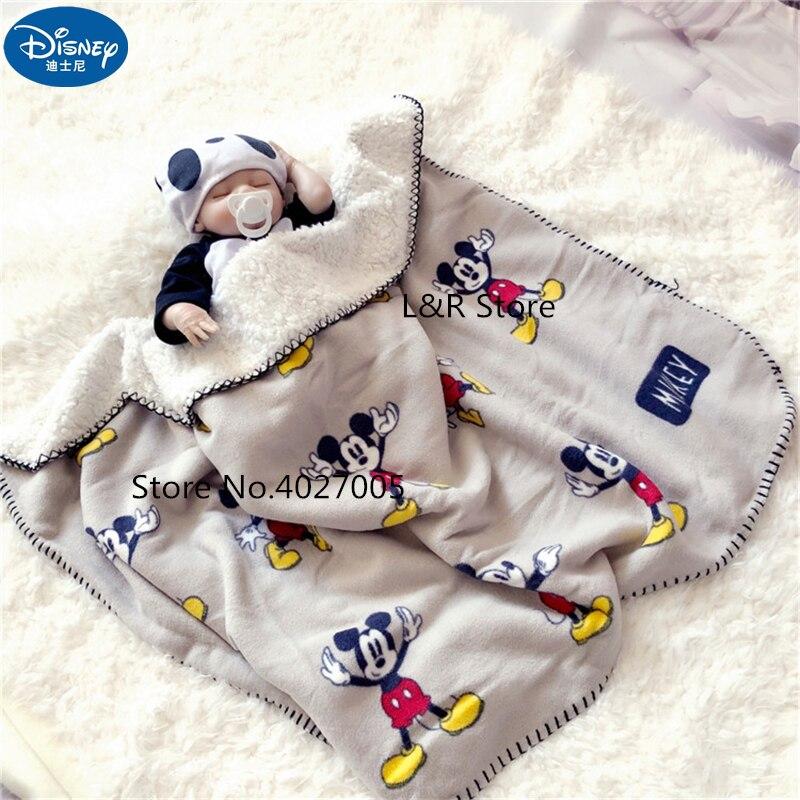 Disney Cartoon Mickey Maus Vier Jahreszeiten Verdicken Super Weiche Fleece kinder Cloud Decke Kinder Junge Mädchen Decke Matte Geschenk