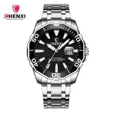 2018 Luxury Fashion Mens Watches Quartz Full Steel Waterproof Diver Chenxi Top Brand Green Wrist Watch For Man Relogio Masculino