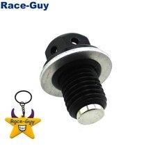 M12 x 1.50mm Black Magnetic Oil Drain Bolt Plug Screw  For Chinese 50 70 90 110 125cc Dirt Pit Bike    ATV Quad CRF50 XR50