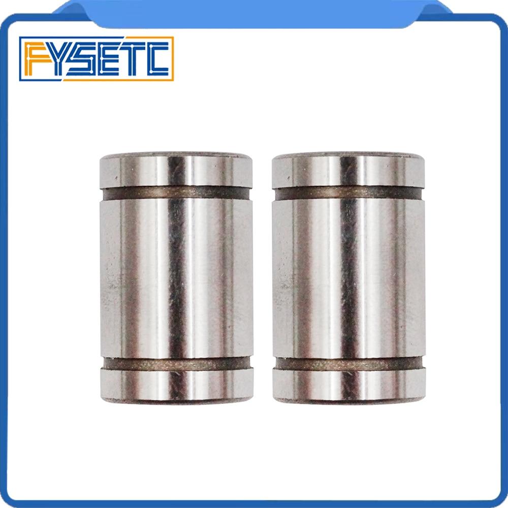 10 unids/lote LM8UU cojinetes de bolas 8mm buje para CNC 3D piezas de impresoras riel lineal barra larga eje parte 8mm * 15mm * 24mm casquillo de aluminio