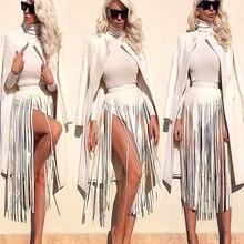 Cinturones de cuero con flecos para mujer, nueva marca, Hippie, Boho, borla, a juego, cintura alta, a la moda, largo y ancho, Bondage