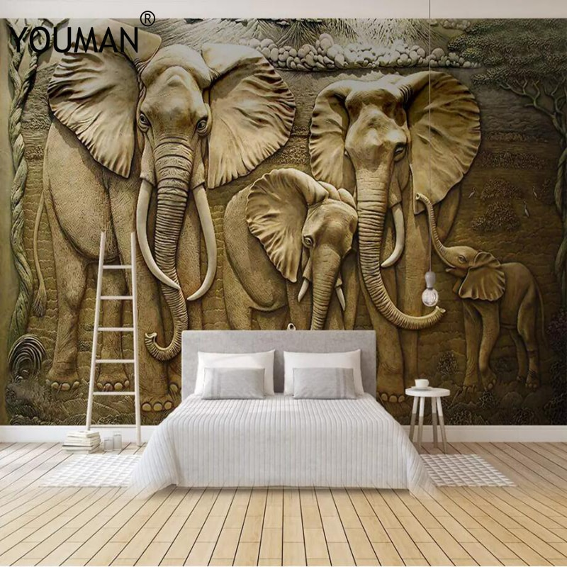 Фото - Wallpapers YOUMAN 3 d Wallpaper TV Wall Mural for TV background Golden Elephant Home Decor Bedroom Photo Mural Wallpaper Design golden elephant
