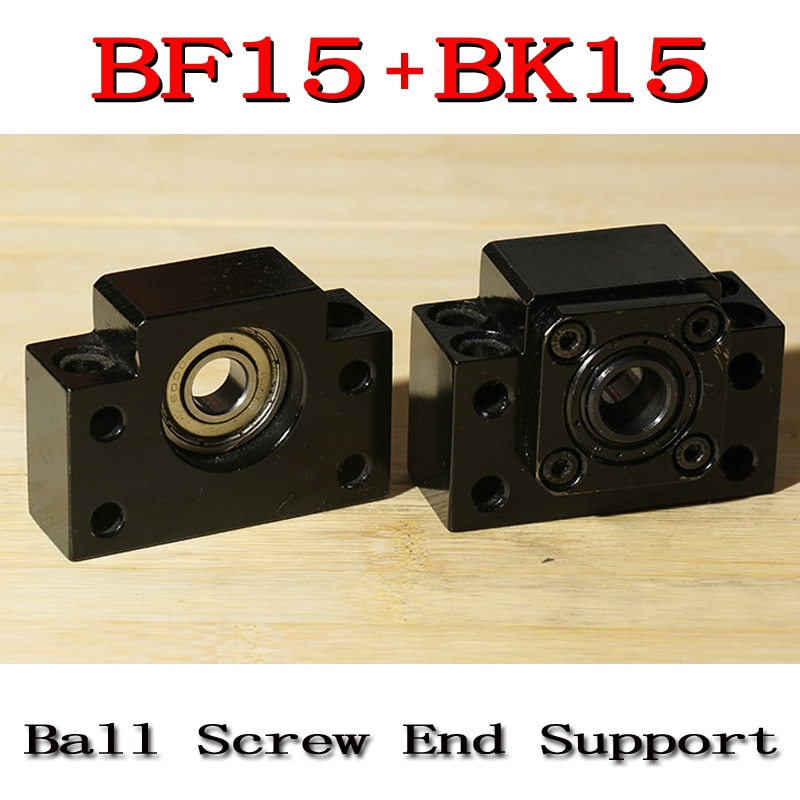 1 قطعة من BK15 + 1 قطعة BF15 C7 ل نهاية دعم ل SFU2005 SFU2010 SFU2020 الكرة المسمار دعم CNC XYZ