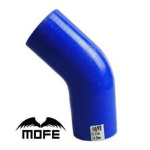 MOFE Universal de 45 grados manguera Turbo de silicona de acoplador de codo de tubo 51mm/57mm/63mm/70mm/76mm/mm