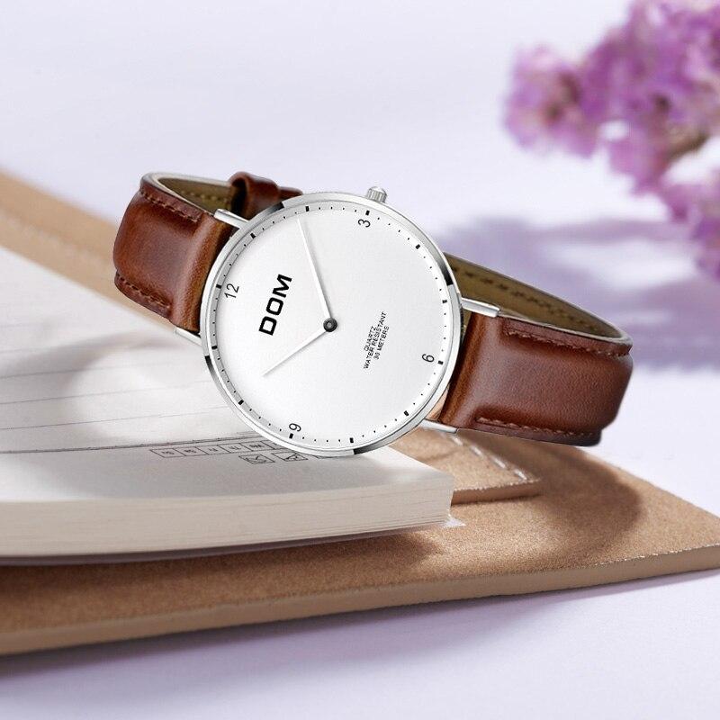 DOM Luxury Brand Women Watches Simple Genuine Leather Waterproof Wristwatch Ladies Dress Fashion Watches Relogio Feminino G-36 enlarge