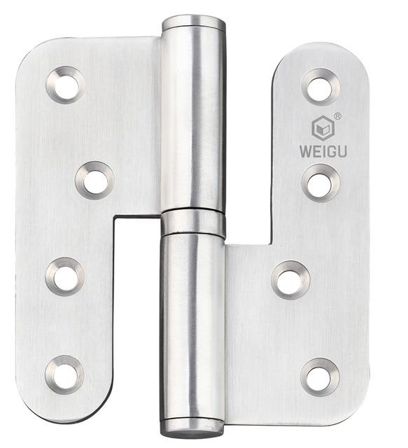 Herrajes de puerta de alta calidad bisagra de puerta de elevación de Material SS 1 par (100mm * 89mm * 3,0mm)