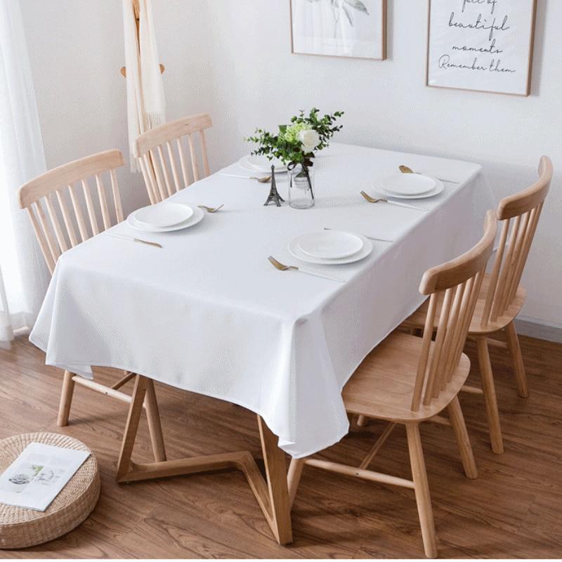 Mantel de mesa de Color blanco sólido, mantel de moda para comedor,...