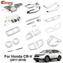 For Honda CR-V CRV 5th Gen 2017 2018 2019 Chrome Fog Light Air Vent Outlet Body Molding Trim Cover Strip Decoration Car Styling