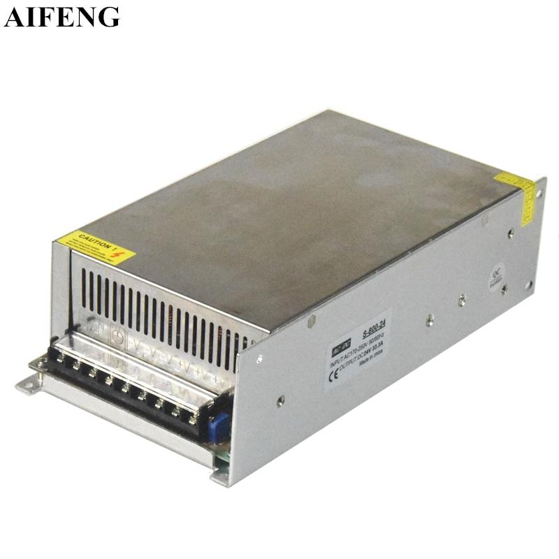 Fuente de alimentación de conmutación AIFENG 800W 16.6A 33.3A 66.6A fuente de alimentación CA 170 V-250 V a cc 12V 24V 48V transformador para tira de luz Led