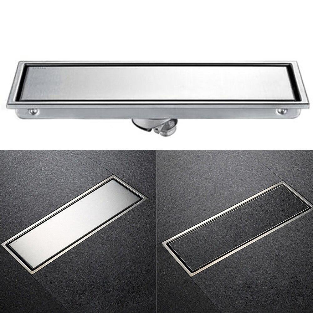 SUS304 الفولاذ المقاوم للصدأ 30x11 سنتيمتر غير مرئية الحمام الطابق استنزاف النفايات صر دش تجفيف