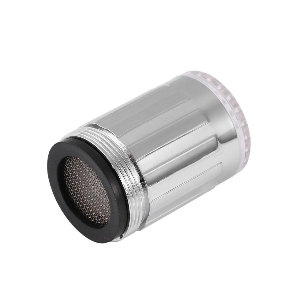 Grifo de agua de luz LED con Sensor de temperatura de brillo, iluminación de grifo de ducha, grifos de lavabo de pulverización para accesorios de cocina y baño