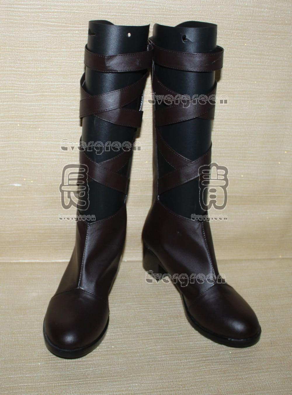 Saint Seiya Aiolos Cosplay zapatos largos botas C006