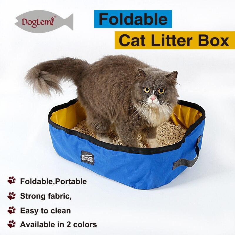 DogLemi Portable Outdoor Cat Litter Box Foldable Travel Cat Litter Pan