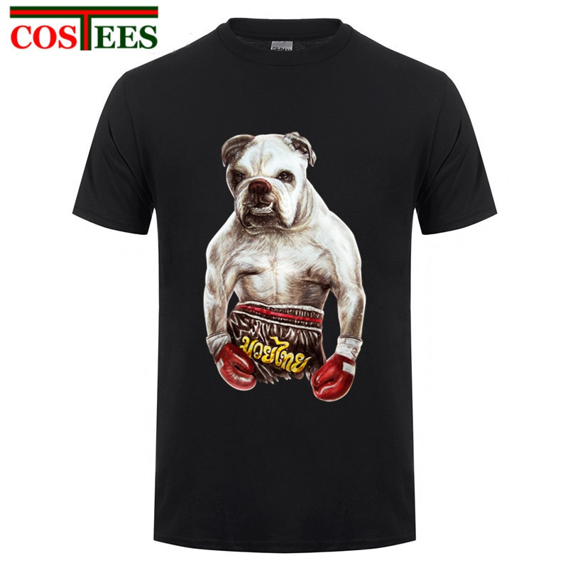 Venta barata en línea talla grande XXXL Cool Boxinger inglés Bulldog Fighter hombres hombre Camiseta única personalizada de manga corta familia T camisa