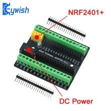 Carte dadaptateur dextension de Terminal Nano Keywish pour Arduino Nano V3.0 AVR ATMEGA328P avec Interface dextension NRF2401 + alimentation cc