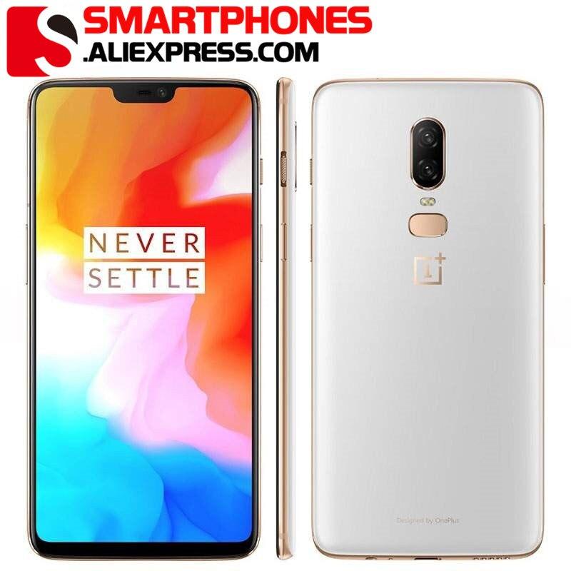 CN-Smartphone ROM Global Oneplus 6, 8GB, 128GB, Snapdragon 845, Octa Core, cámara Dual ia 20,0 MP + 16.0mp, desbloqueo de identificación facial, Android 8