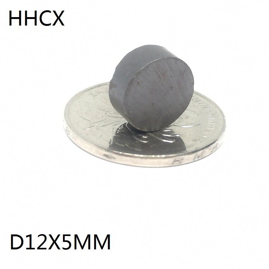 10 unids/lote Y30 disco imán de ferrita 12*5mm imán permanente 12mm x 5mm negro redondo altavoz imán 12x5mm