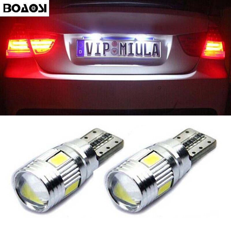 2x T10 W5W Canbus LED del coche bombillas t10 zócalo de la lámpara luz de placa de licencia para Toyota Corolla Avensis Yaris Rav4 Auris Hilux Prius