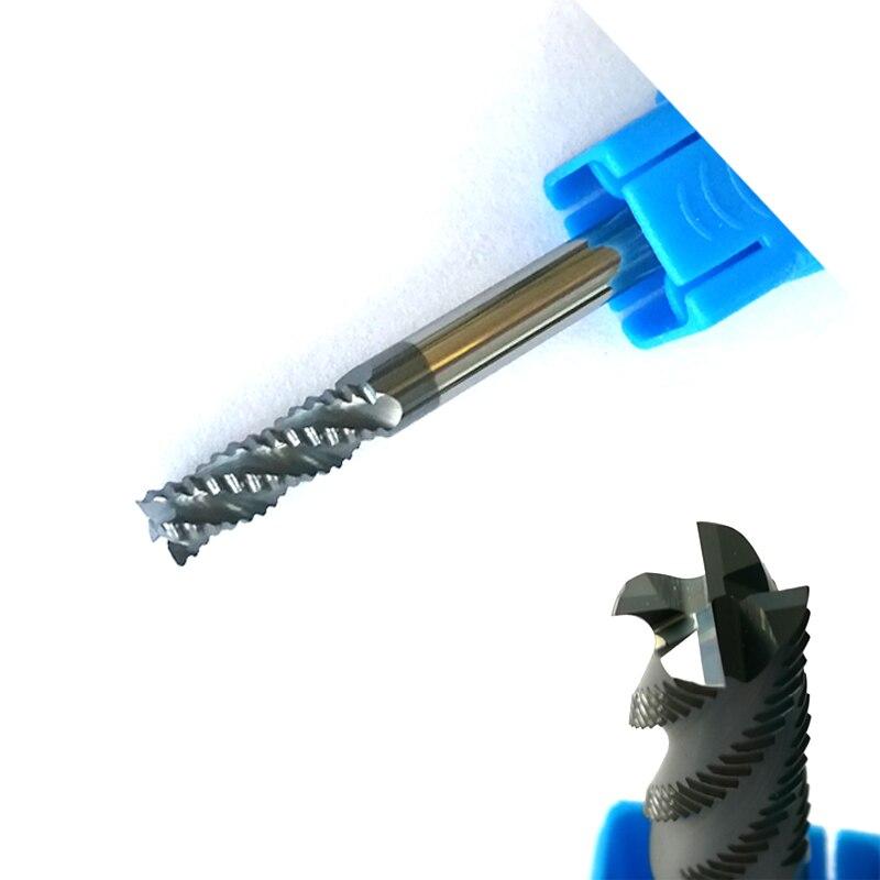 D4mmx11mm HRC60 Desbaste Fresas 4 flautas fresas CNC Fresa de Topo Tools fresas Carbide áspera moagem bits