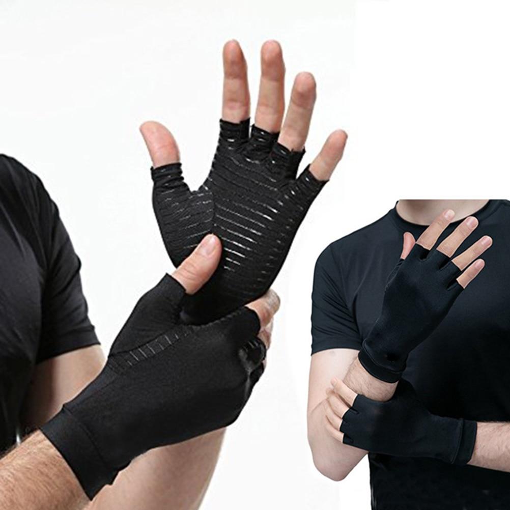1 par Luvas de Artrite Artrite Luvas Luvas de Pressão De Compressão De Cobre de Cobre Para Esportes