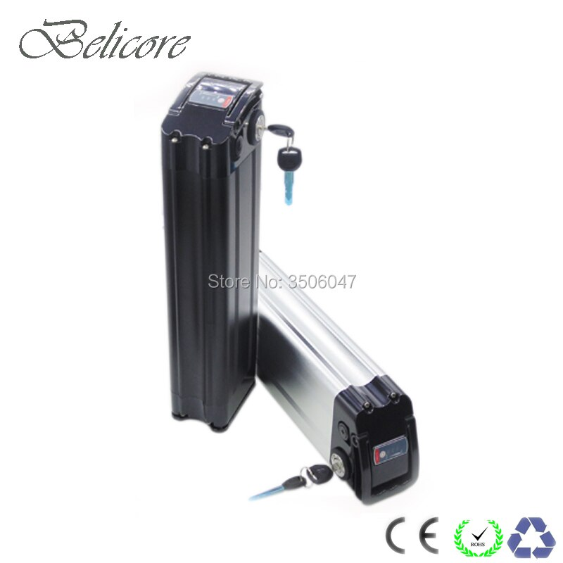 Bateria elétrica 36v 48v 10ah 12ah 15ah 17.5ah prata dos peixes ebike bateria de íon de lítio
