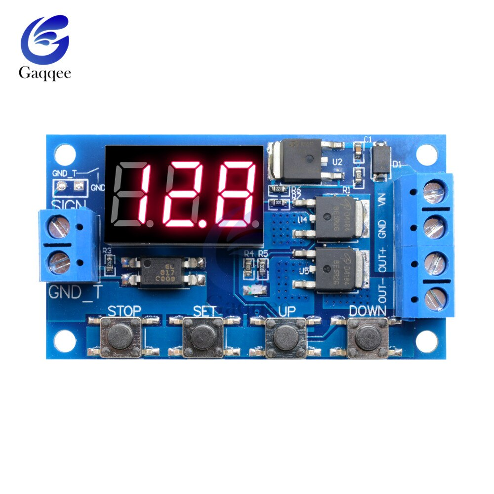 DC 12 V 24 V Dual MOS LED Digitale Zeit Verzögerung Relais Trigger Zyklus Timer Verzögerung Switch Circuit Board Timing control Modul 4 Schalter