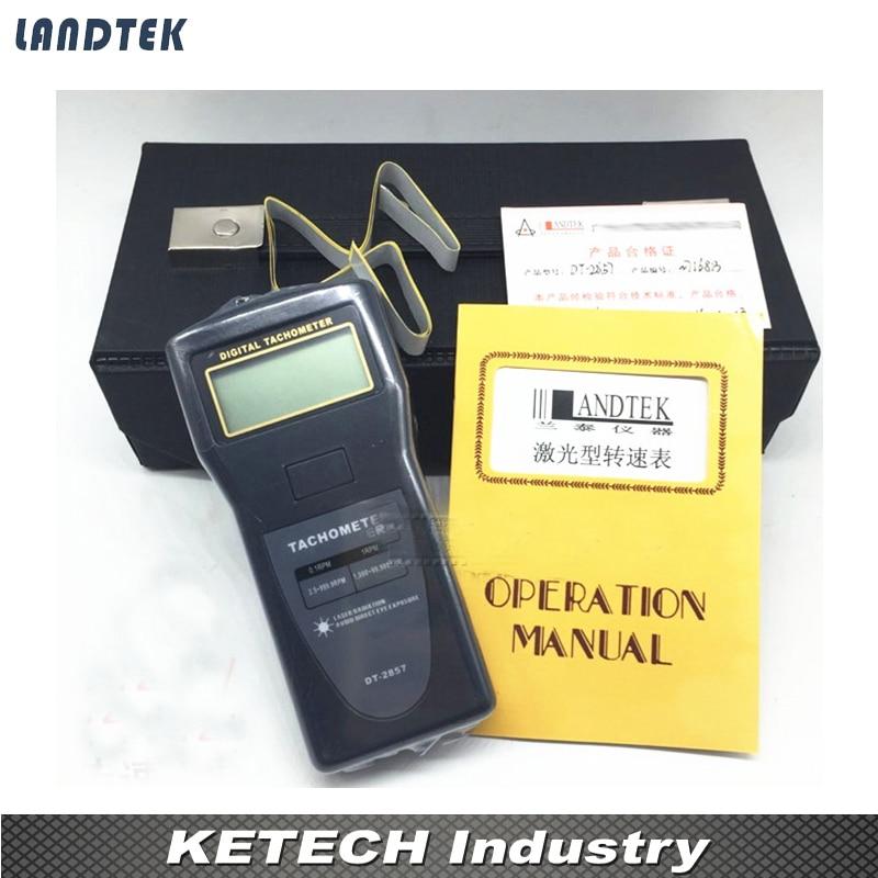 Digital portátil Industrial tacómetro 2,5 ~ 99.999 rpm DT2857