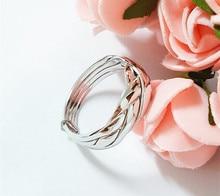 925 пробы кольцо для помолвки и свадьбы из чистого серебра, 4 шт., кольцо-головоломка для женщин, мужчин, мальчиков и девочек