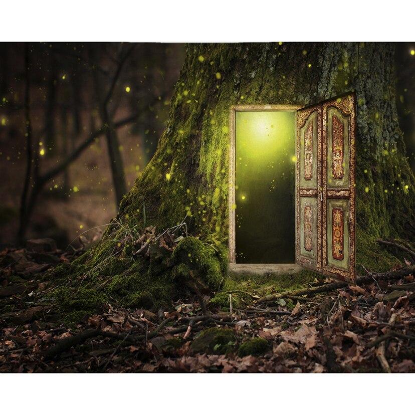 Cuadro de diamantes 5D DIY con dibujo de dibujo completo cuadrado/mosaico de diamantes redondo fantasía decoración de la puerta del árbol cuadro para el hogar de diamantes de imitación LG2458