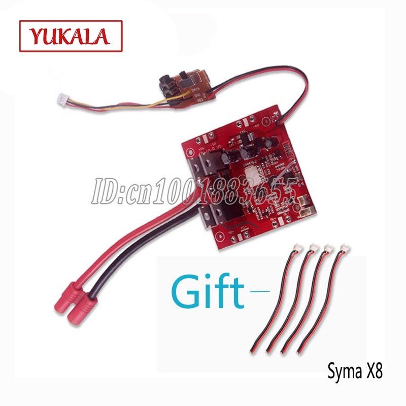 Placa receptora de componentes de placa de circuito SYMA X8C X8W X8G 4CH RC 2,4G UFO Quadcopter Repuestos