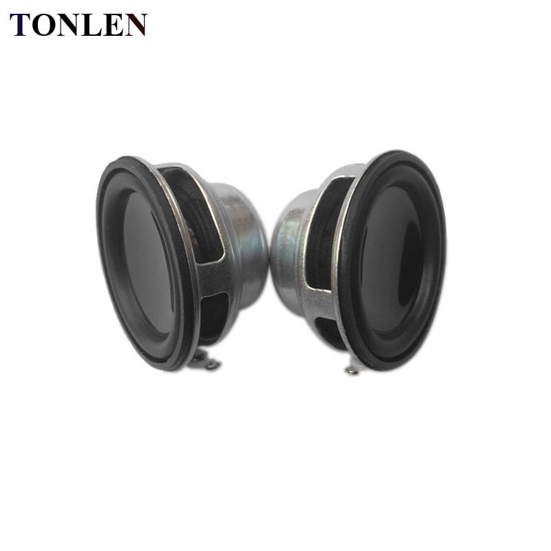 TONLEN 4 ohm 3W Full Range Speaker Round Rubber Side Speaker NdFeB Magnets 36mm 16Core DIY Mini Music Speaker Horn 2Pcs