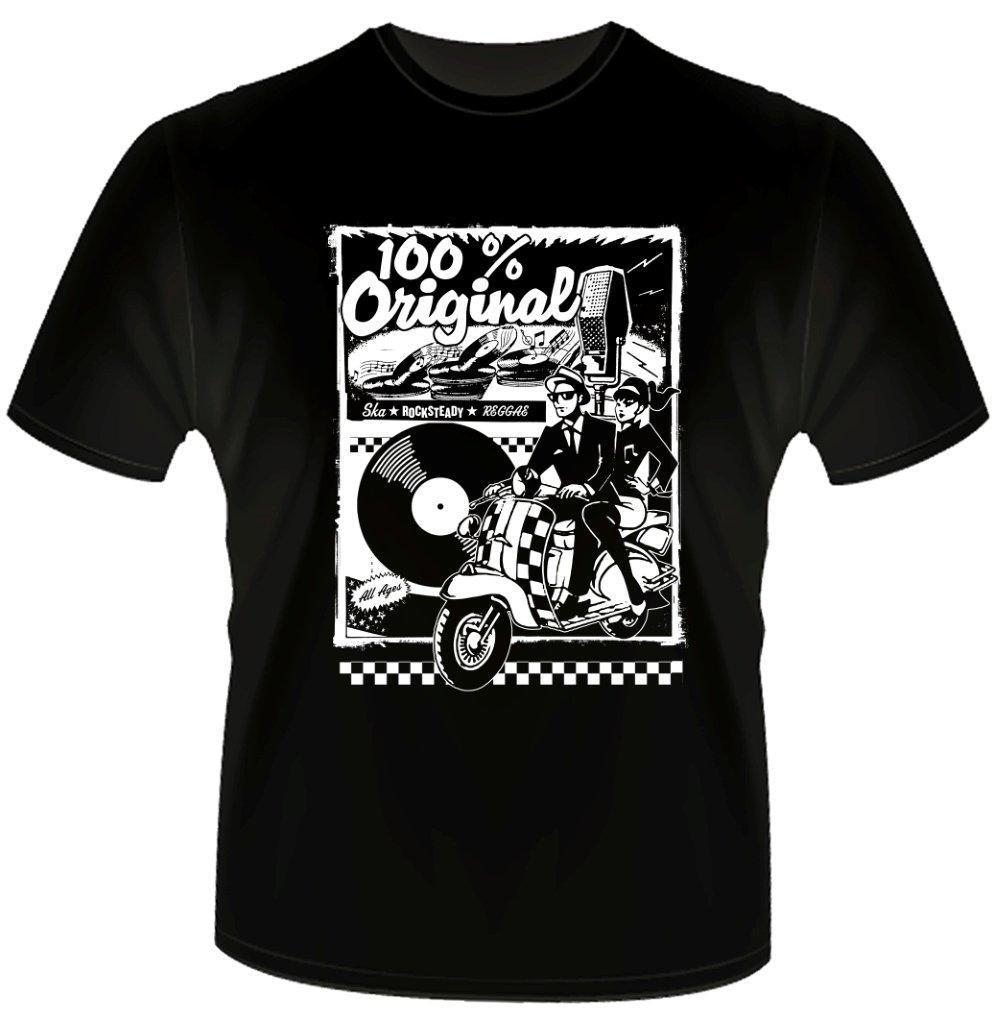 2020 mais novo masculino engraçado 100% original ska rocksteady reggae de dois tons bluebeat vespa camiseta vintage legal camisetas