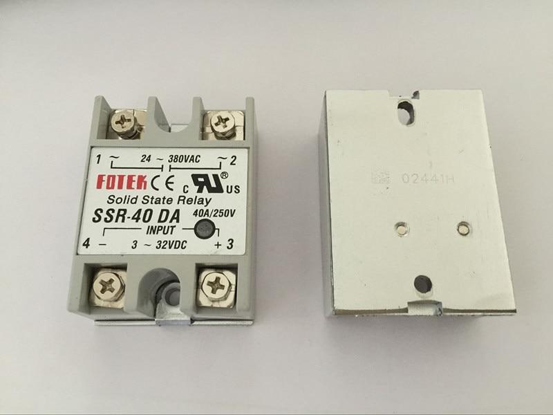 10 قطعة SSR40DA SSR-40DA الصانع 40A ssr التتابع ، المدخلات 3-32VDC الناتج 24-380VAC