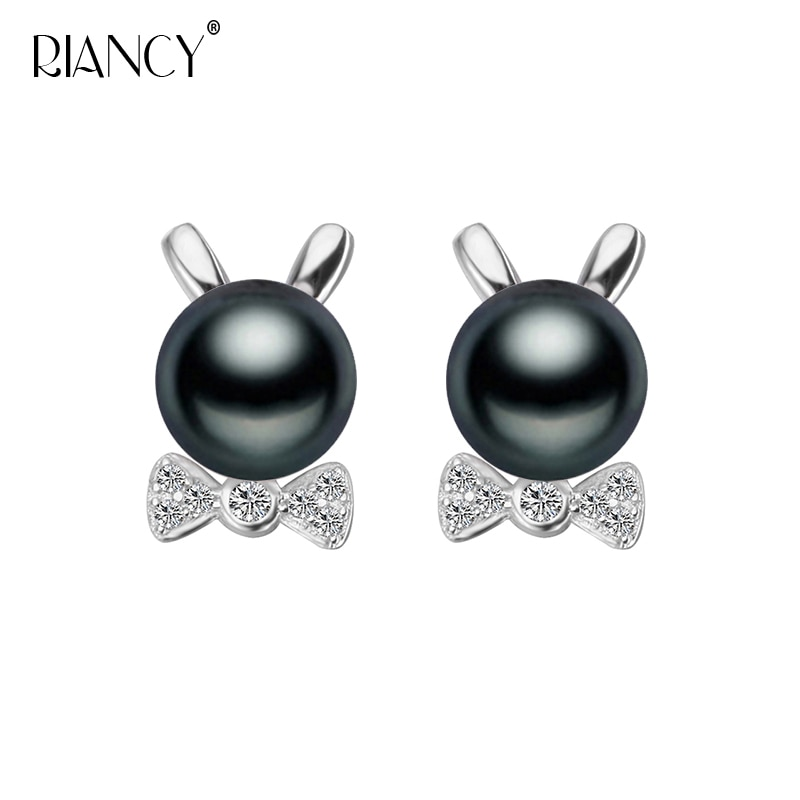 2019 Fashion Natural Pearl Earrings Freshwater 925 Sterling Silver Stud Jewelry For Women Gift