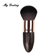 Круглая кисть для пудры из козьей шерсти MY delivery, кисти для макияжа, Pincel Maquiagem Brochas Maquillaje Make Up Kwasten 006