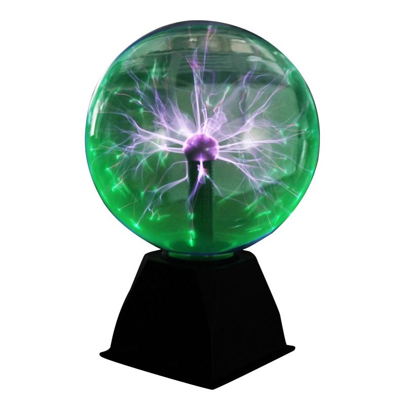 8 Inch Plasma Ball Lamp Globe Static Night Light Magic Touch Sound Sensitive Glass Sphere Fun Toy Kids Plazma Desk Novelty Light