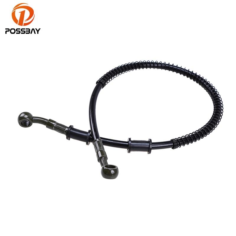 POSSBAY 500mm-1900mm Motorcycle Brake Oil Hose Line Pipe Hydraulic Reinforced Braided Universal Fit ATV Dirt Bike Brake System