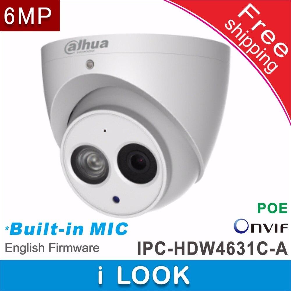 Envío Gratis Dahua soporte POE Cámara IP de red cctv IPC-HDW4631C-A reemplazar IPC-HDW1531S micrófono incorporado HD 6MP cámara domo