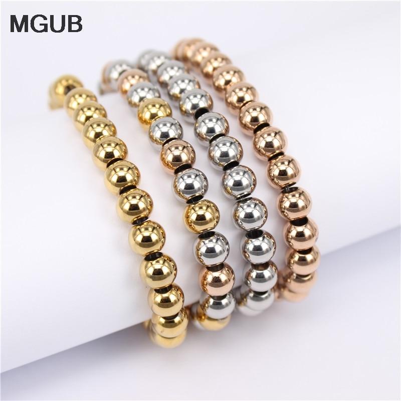 MGUB Stainless steel bracelet 5 options Elastic bracelet Men's and women's summer cool bracelet Wholesale specials for sale