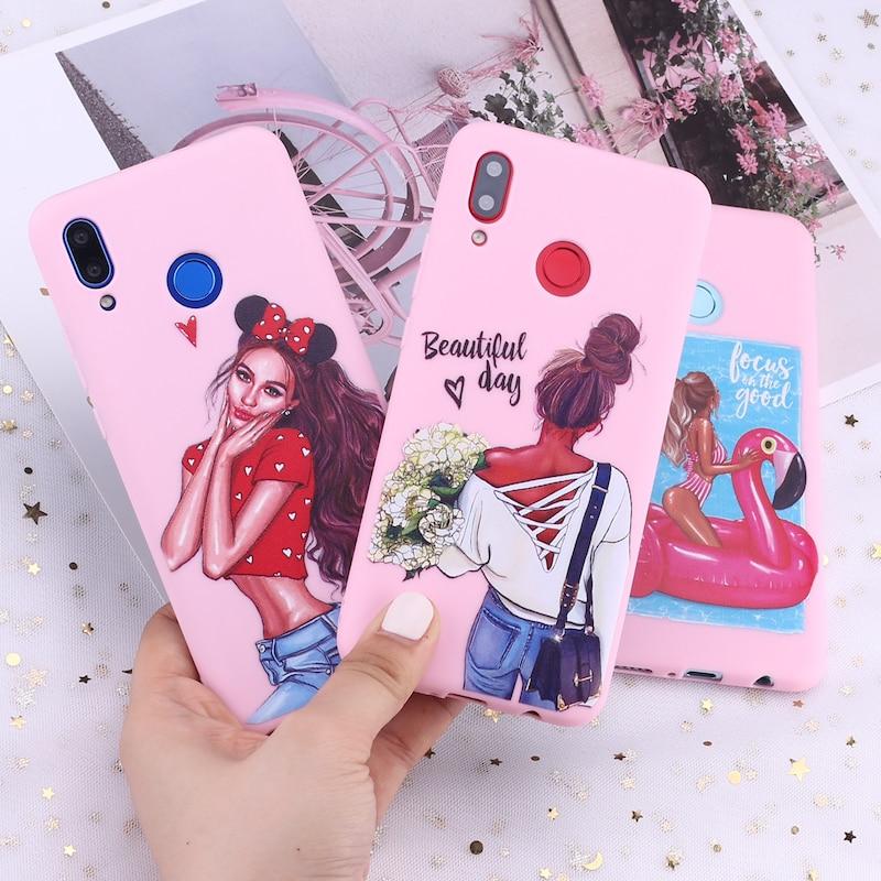 For Xiaomi Mi Redmi Note 5 6 7 8 9 10 lite Pro Plus Fashion Queen Classy Paris Girl Summer Travel Candy Silicone Phone Case