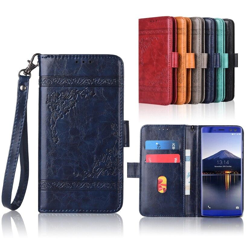 Nueva funda tipo billetera para Doogee BL12000 (Pro), funda con tapa con correa, 100% funda especial de cuero PU con flor repujada para libro