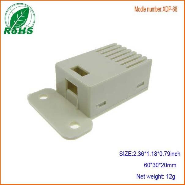 Пластиковый корпус для электронных корпусов с датчиком температуры и влажности для ПХД 60*30*20 мм 2,36*1,18*0,79 дюйма