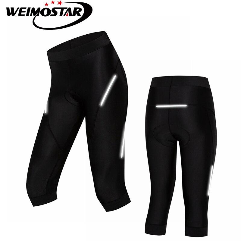 Novedad de 2018, pantalones cortos de ciclismo para mujer de Weimostar, pantalones cortos con almohadilla de Gel transpirable para bicicleta a prueba de golpes