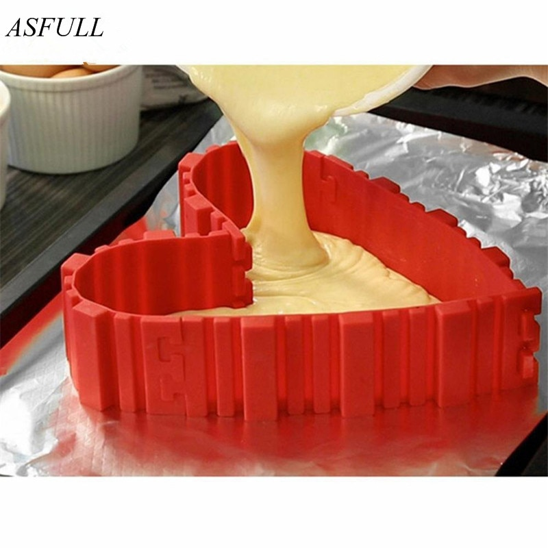 ASFULL 4 unids/set inventario de serpientes de horneado mágico de calidad alimentaria moldes de silicona para pasteles hornear diy todo tipo de herramientas de molde para hornear pasteles