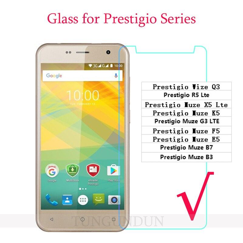 Prestigio Wize Q3 Protector de pantalla de vidrio para Prestigio Muze X5 K5 Lte G3 F5 E5 B3 B7 cubierta de película de vidrio templado para SmartPhone