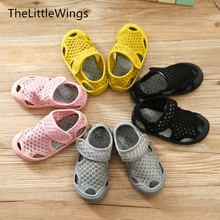 2020 summer new Fashion girls boys shoes Net cloth children school Flat sandal sneakers sandy beach Super soft and comfortable