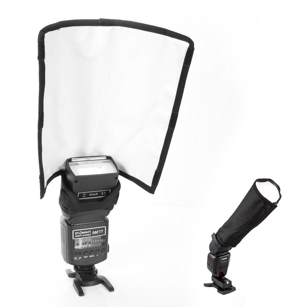 Universal plegable Speedlight Reflector Snoot sellado difusor de Soft Box para Flash doblador para YONGNUO 568EXII 580EX SB900